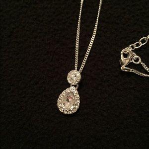 Faux Diamond Necklace
